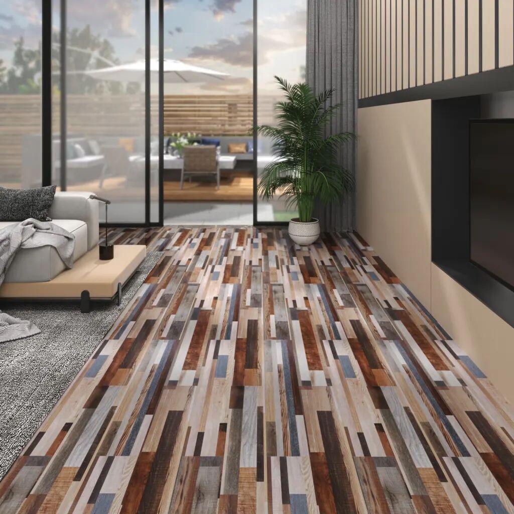 vidaXL Lamas para suelo de PVC autoadhesivas multicolor 4,46 m² 3 mm