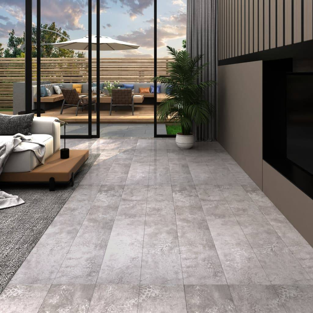 vidaXL Lamas para suelo de PVC autoadhesivas gris tierra 5,02 m² 2mm