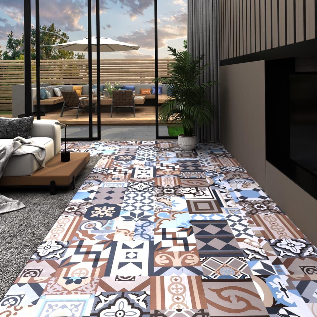 vidaXL Tarimas autoadhesivas 20 udes PVC 1,86 m² estampado monocolor