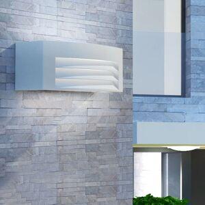 vidaXL Lámpara de pared de exterior de aluminio gris