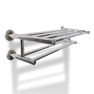 vidaXL Toallero de acero inoxidable 6 tubos