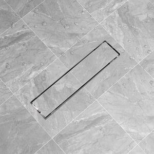 vidaXL Desagüe lineal de ducha de acero inoxidable 530x140 mm