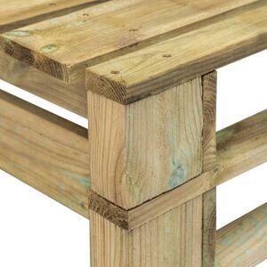 vidaXL Banco de palés para jardín madera