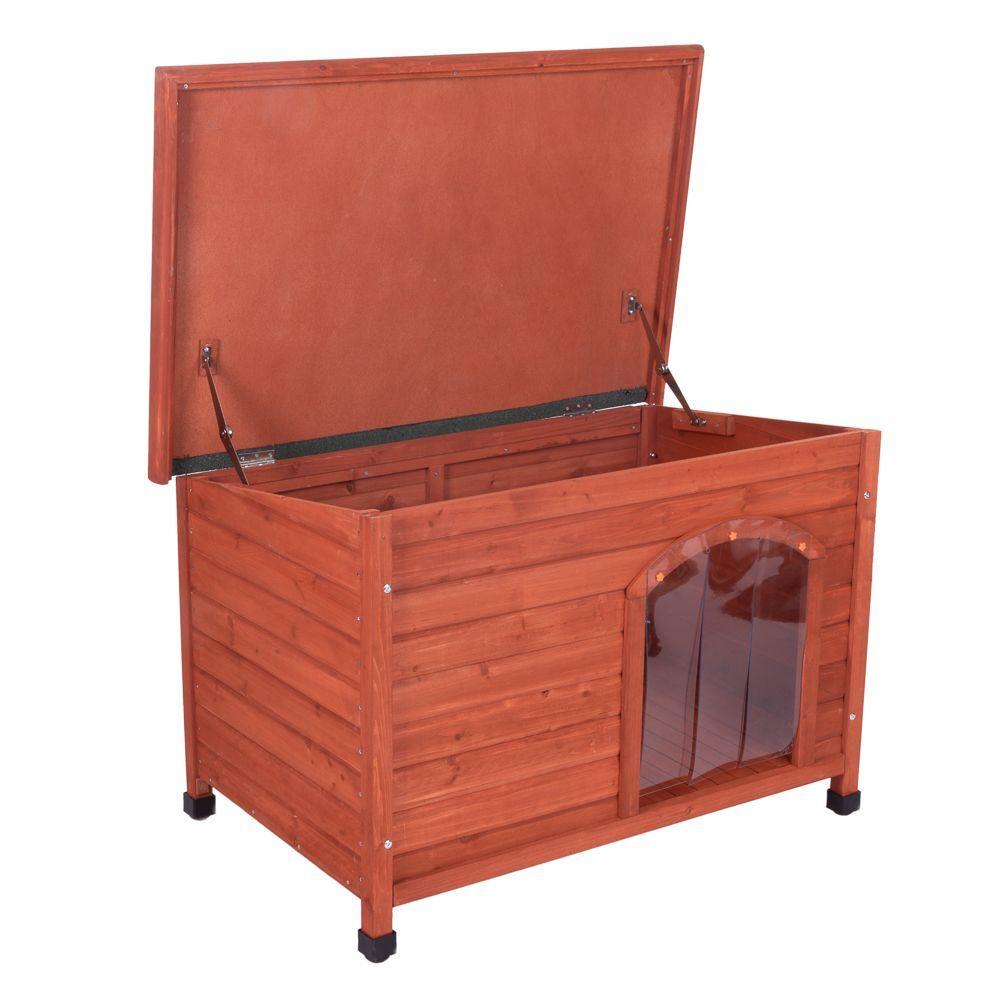 bitiba caseta de madera woody con puerta para perros - s: 85 x 57 x 58 cm (l x an x al)