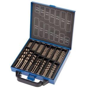 Juego de 98 brocas de cobalto 1.5 - 10 mm.