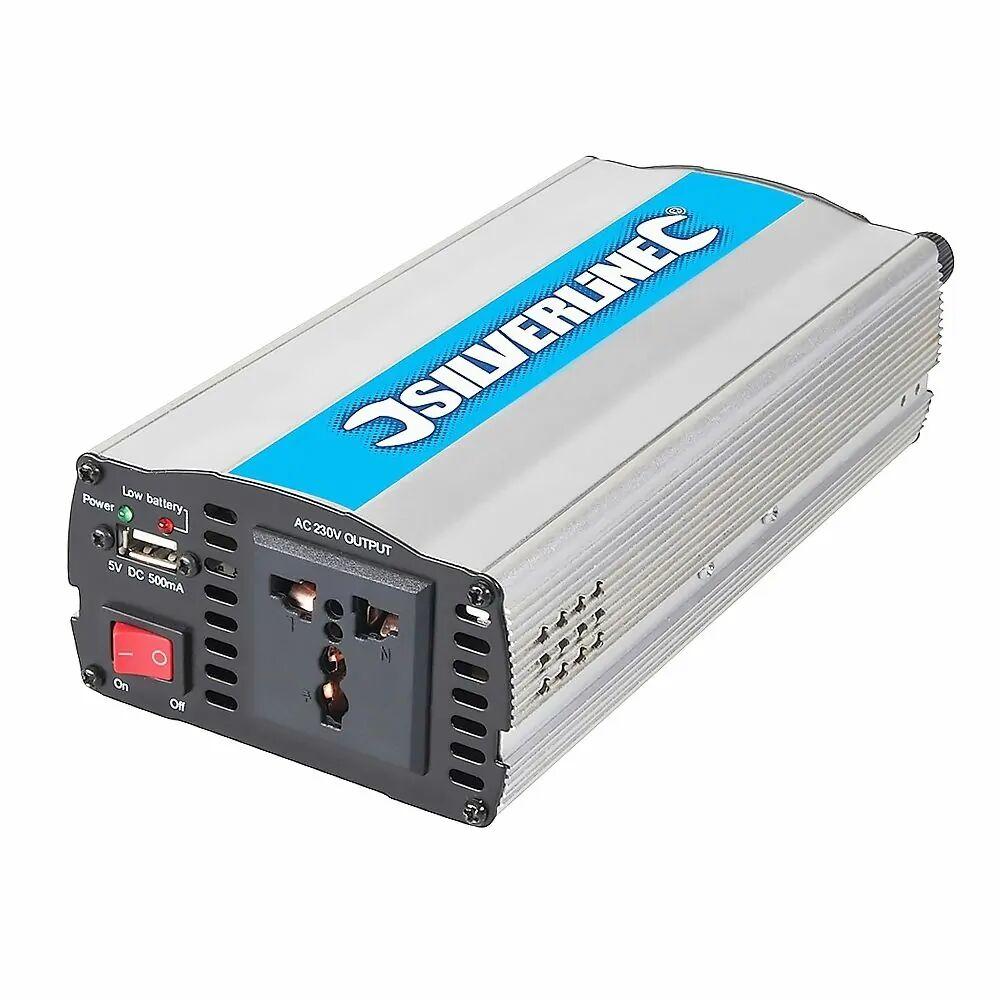 Silverline Inversor de corriente 300W. 12V a 220V