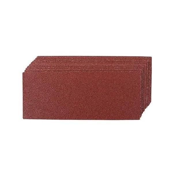 Silverline Hojas de lija de 93 x 230 mm, 10 pzas : Grano de las lijas - 80