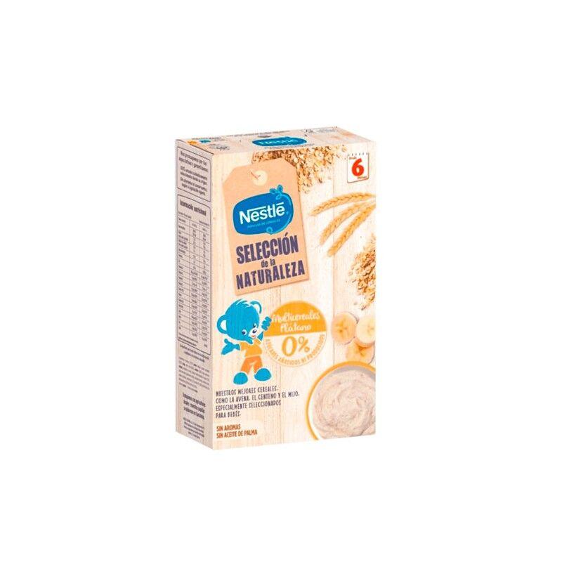 Nestlé Selección Naturaleza Multicereales y Plátano +6m 330gr