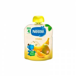 Nestlé Bolsita 4 Frutas +4m 90gr