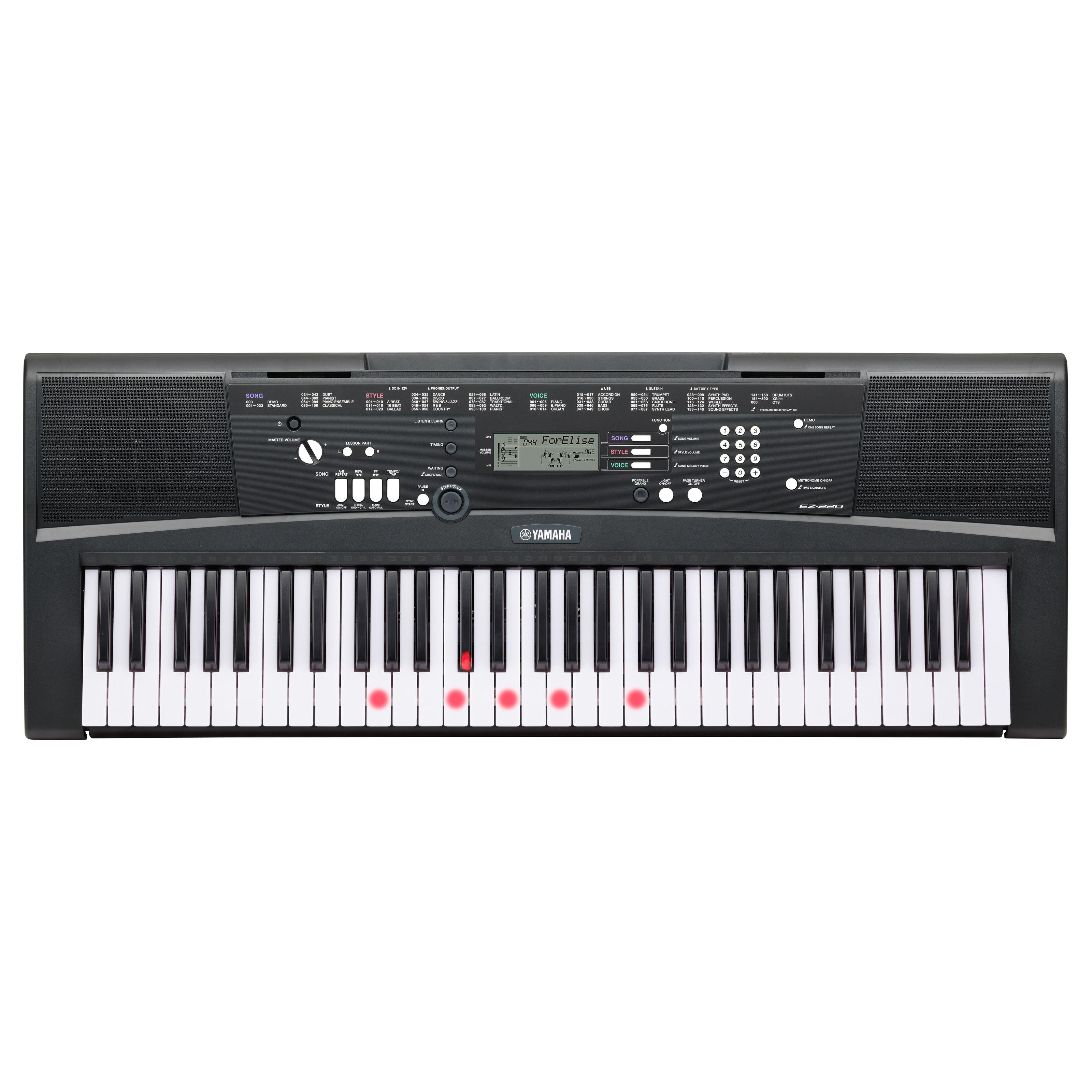 yamaha ez-220 teclas iluminadas de teclado