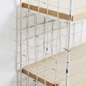 Kave Home Estantería de pared Deland 30 x 50 cm de madera maciza de mango