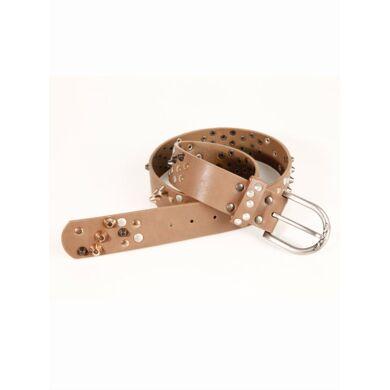 Trend Capsule By  Cinturón mujer símil piel tachuelas tricolor marrón