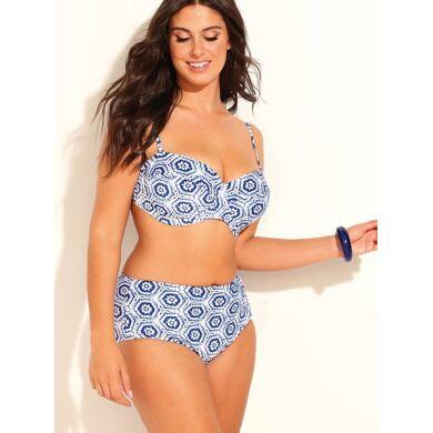 Bellísima By  Bikini bandeau de braga alta tallas grandes azul