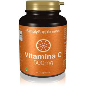 Simply Supplements Vitamina C 500mg  - 60 Cápsulas