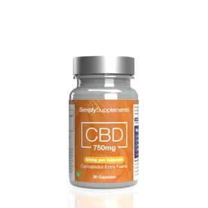 Simply Supplements CBD 750mg (25mg por cápsula) - 60 Cápsulas