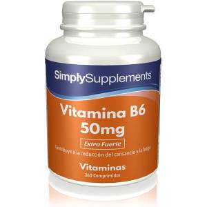 Simply Supplements Vitamina B6 50mg - 360 Comprimidos