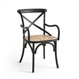 LA REDOUTE INTERIEURS Silla de mesa de madera y rejilla Cedak NEGRO