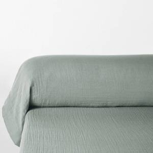 LA REDOUTE INTERIEURS Funda de almohada larga lisa de gasa de algodón, Snow VIOLETA