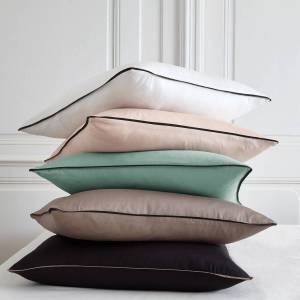 LA REDOUTE INTERIEURS Funda nórdica de satén de algodón lavado, Pavone MARRON