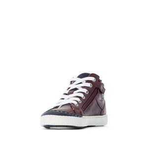 LA REDOUTE COLLECTIONS Zapatillas de piel con cordones, del 26 al 38 ROJO
