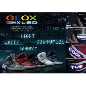 GEOX Zapatillas de caña alta X Led NEGRO