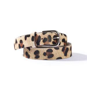 LA REDOUTE COLLECTIONS Cinturón ancho 85-135 cm, estampado leopardo OTROS
