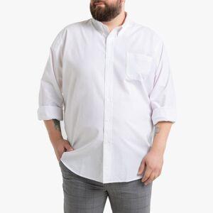 LA REDOUTE COLLECTIONS PLUS Camisa recta de manga larga, estatura 3 BLANCO