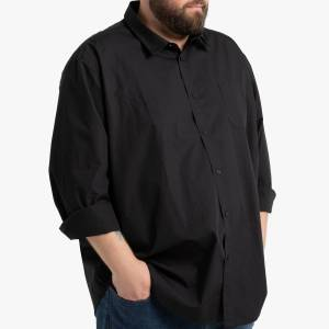 LA REDOUTE COLLECTIONS PLUS Camisa recta de talla grande, manga larga BLANCO