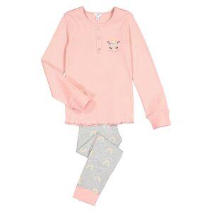 LA REDOUTE COLLECTIONS Pijama unicornio, 3-12 años ROSA
