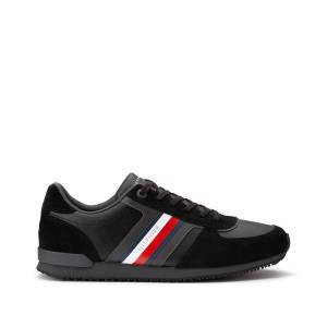TOMMY HILFIGER Zapatillas Iconic Mix Runner NEGRO