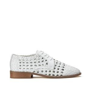 LA REDOUTE COLLECTIONS Derbies calados con cordones de piel BLANCO