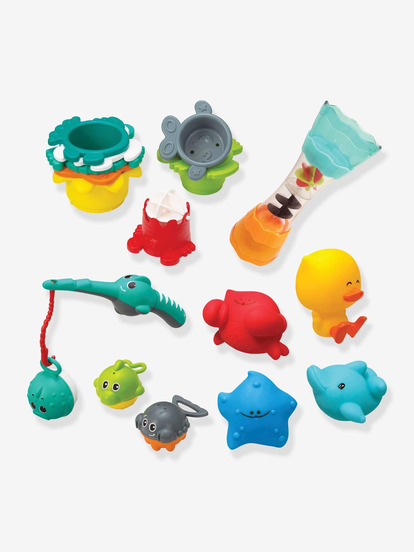 INFANTINO Estuche de baño con 17 piezas INFANTINO azul medio liso
