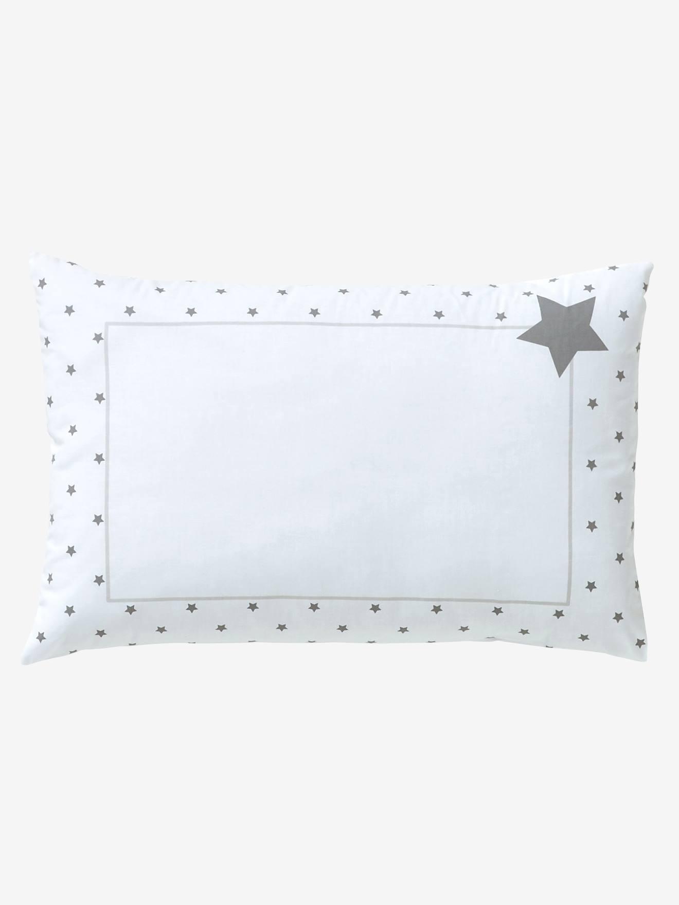 VERTBAUDET Funda de almohada para bebé Lluvia de estrellas blanco/estrellas