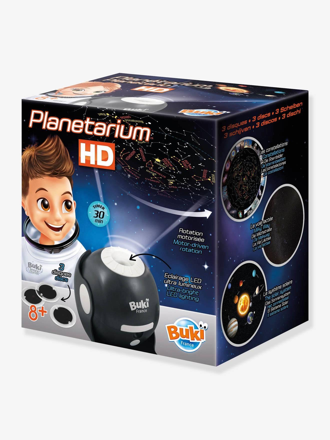 BUKI Planetarium HD - Proyector - Lámpara de noche BUKI azul claro liso con motivos