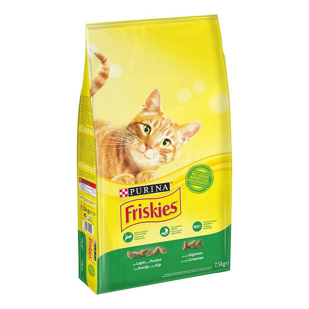 Friskies 7,5kg Purina con conejo, pollo y verduras pienso para gatos