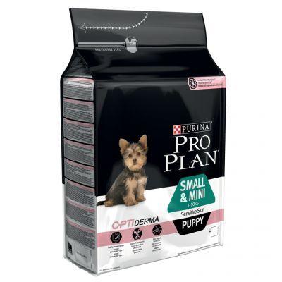 pro plan purina  small & mini puppy optiderma salmón - 2 x 3 kg - pack ahorro