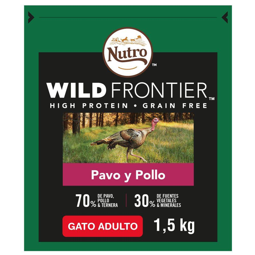 Nutro Wild Frontier Adult Pavo y pollo para gatos.- 7 kg