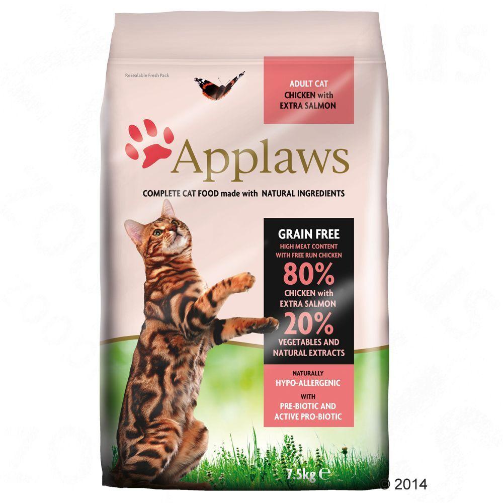 Applaws Adult Naturally Hypoallergenic con pollo y salmón para gatos.- 7,5 kg
