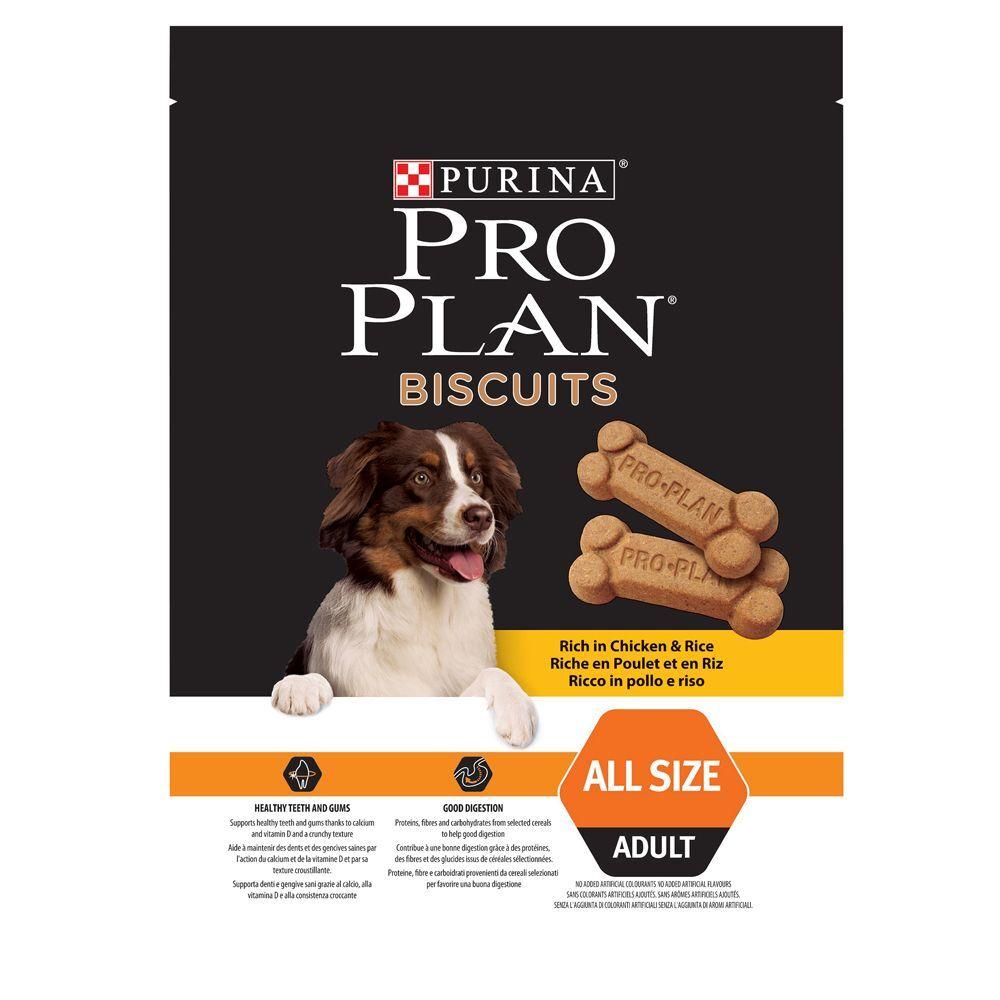 pro plan purina  galletas con pollo y arroz - 3 x 400 g - pack ahorro