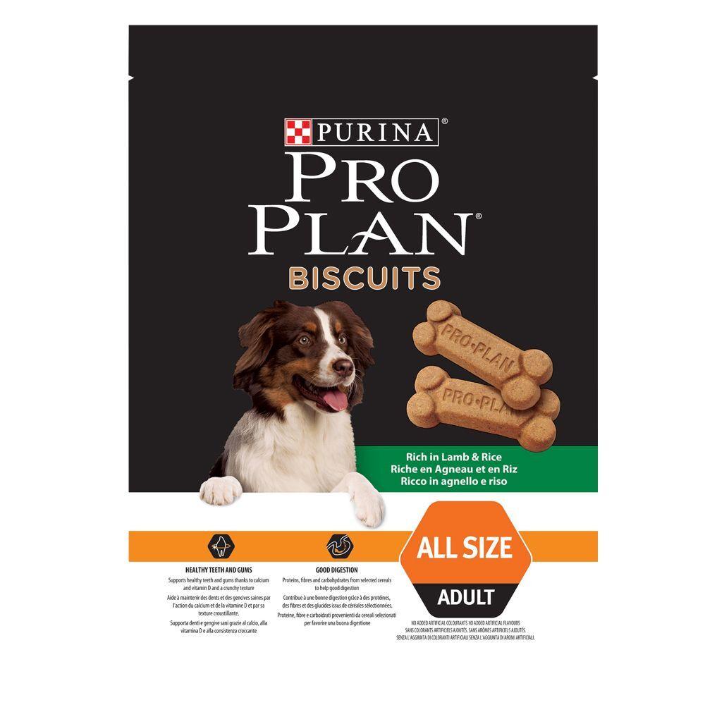 pro plan purina  galletas con cordero y arroz - 3 x 400 g - pack ahorro