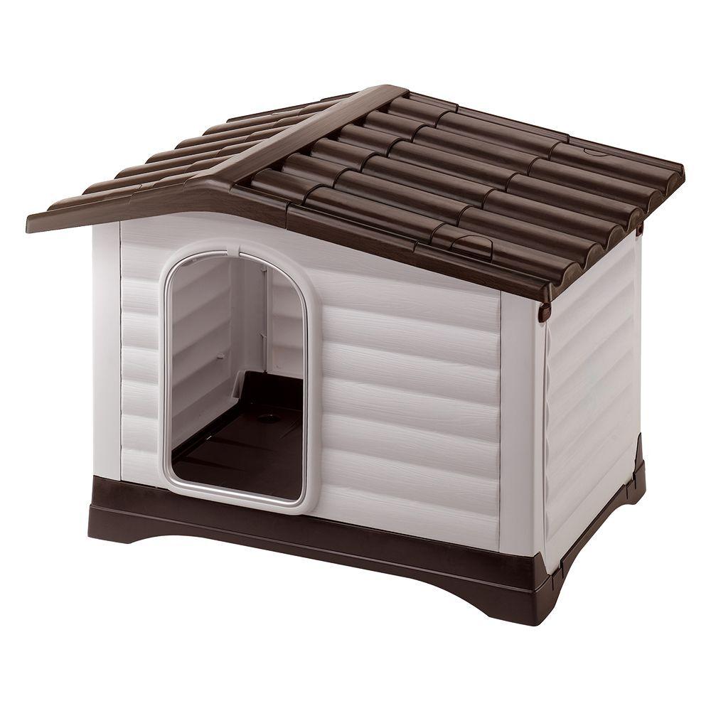 ferplast caseta de plástico  dogvilla para perros - l: 111 x 84 x 79 cm (l x an x al)