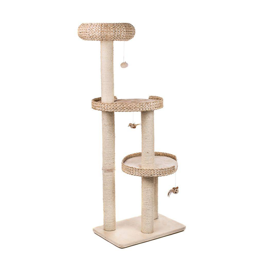 zooplus exclusive rascador natural home iii para gatos.- beige