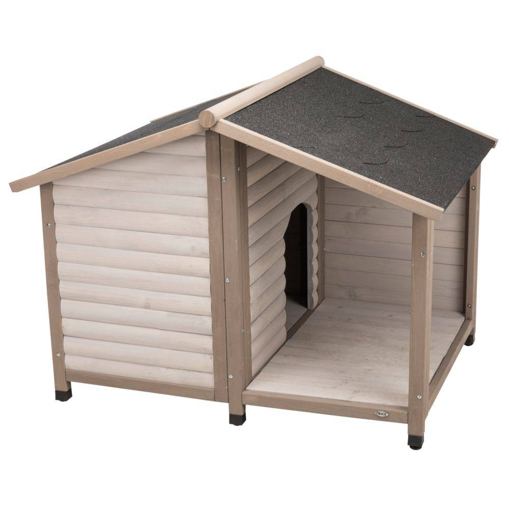 trixie natura caseta  con terraza para perros - m/l: 130 x 100 x 105 cm (an x p x al)