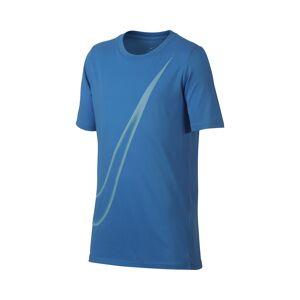 Nike Dry Tee Big Swoosh Blue Boy 140