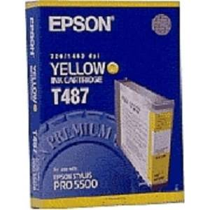 Epson Mustepatruuna keltainen 110ml T487 Replace: N/A