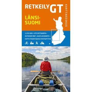 Retkeily GT Länsi-Suomi, 1:250 000 Kartta, viikattu