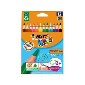 BIC Kids Evolution Triangle ECOlutions -kolmikulmaiset v�rityskyn�t - Useita v�rej�, 12 kpl pakkaus