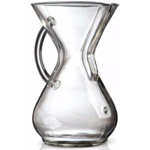 Chemex 6 kuppia lasikahvalla