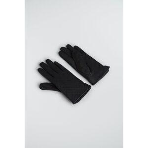 Gina Tricot Vega leather glove - Black (9000) - Size: XS/S