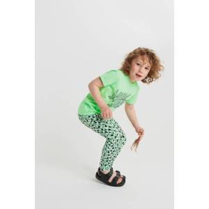 Gina Tricot Mini leggings  - Female - Green dots  - Size: 110